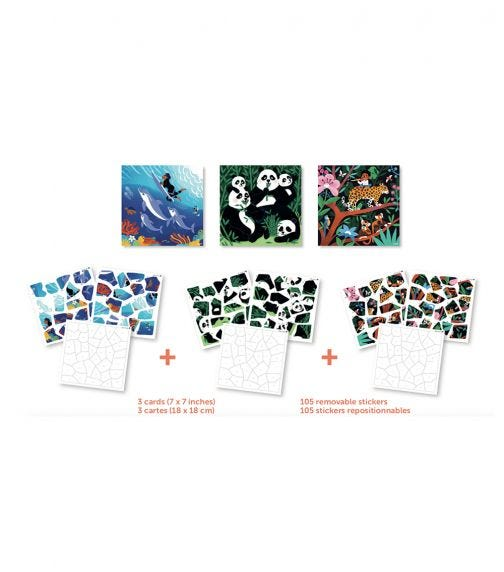 POPPIK My Sticker Puzzle Wild Animals