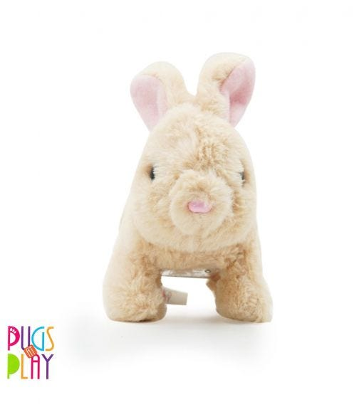 PUGS AT PLAY Cookie Jumping Rabbit