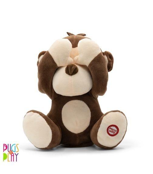PUGS AT PLAY Peek A Boo Freedo Monkey