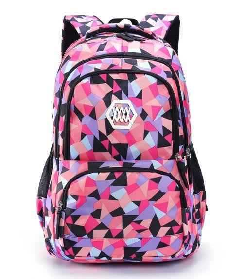 SAMBOX Geometrical 2 Extra Large School Bag - Black
