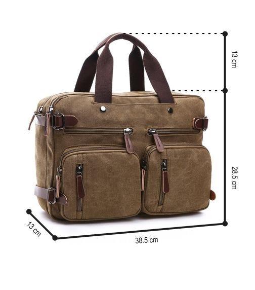 SAMBOX-Convertible Laptop Travel Backpack - Khaki