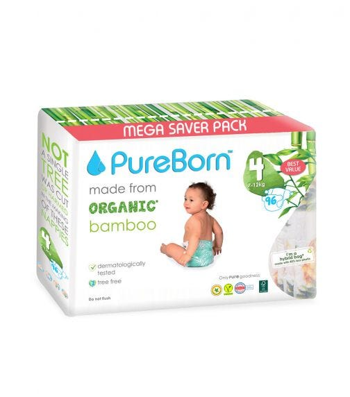 PUREBORN Size 4 Value Packs