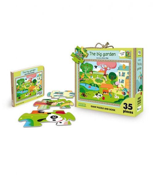 SASSI Giant Puzzle And Book The Big Garden