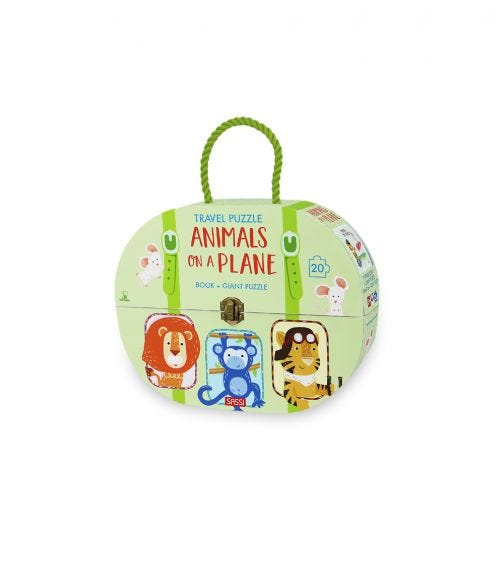 SASSI Travel Puzzle Animals On A Plane