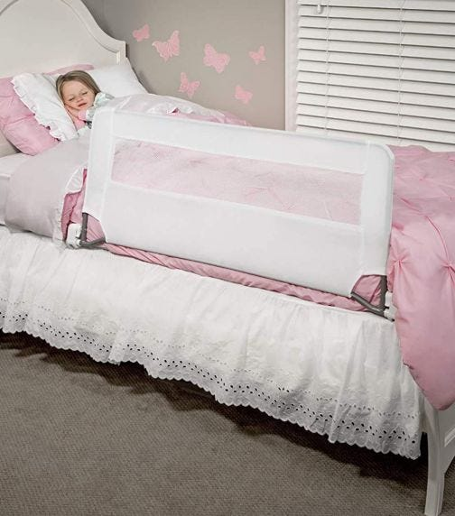 REGALO Swing Down Bed Rail Guard With Reinforced Anchor Safety System