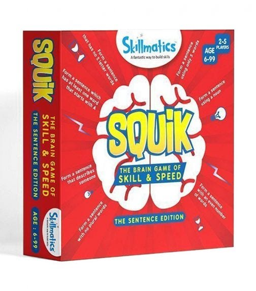 SKILL MATIC Educational Game Squik Sentences Edition