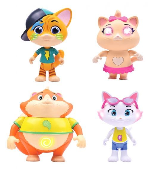 SMOBY 44 Cats Set of 2 Figures Assorted