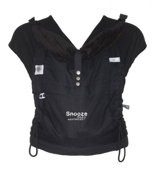 SNOOZEBABY Kiss Carry All Black