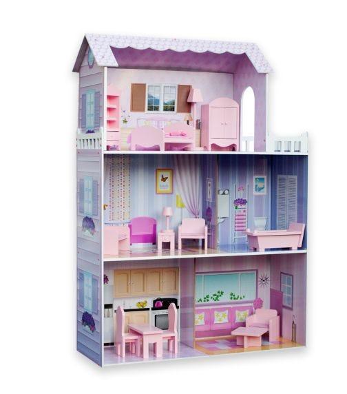 TEAMSON Kids Dreamland Tiffany 12 Inch Doll House (Pink)
