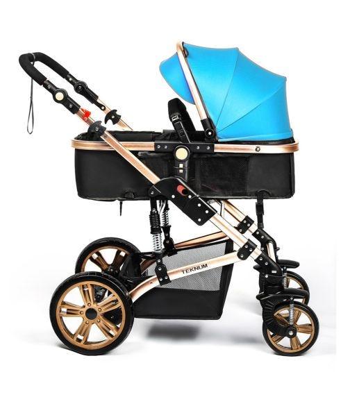 TEKNUM 3 In 1 Pram Stroller - Cool Blue