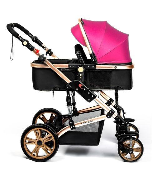 TEKNUM 3 In 1 Pram Stroller - Strawberry Pink