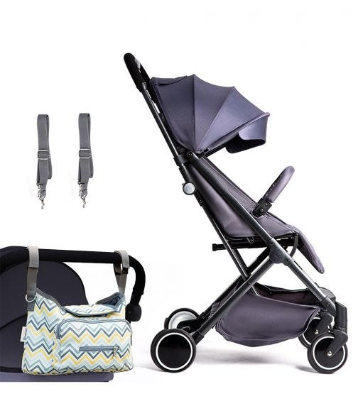 TEKNUM Travel Lite Stroller - Dark Grey