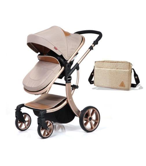 TEKNUM - 3 In 1 Luxury Pram Stroller - Aimile - Khaki