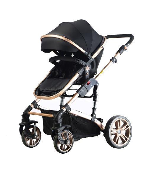 TEKNUM 3 In 1 Pram Stroller - Black