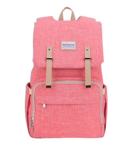 SUNVENO Travel Diaper Bag - Extra Large - Orange