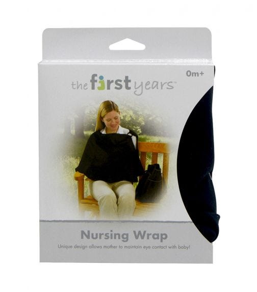 THE FIRST YEARS Nursing Privacy Wrap Black