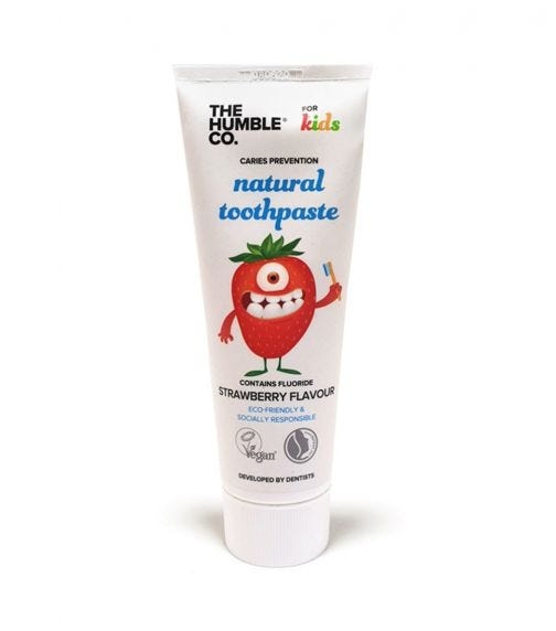 THE HUMBLE CO Kids Natural Toothpaste - Strawberry 75 ML