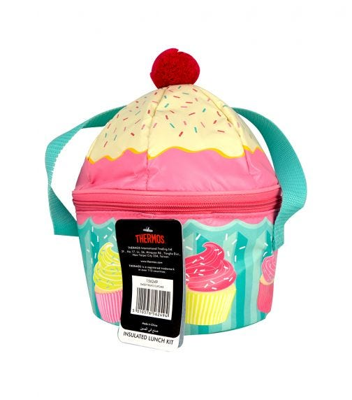 THERMOS Kids School Lunch Bag Sweet Treats Cup Cake