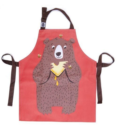 THREADBEAR DESIGN Fred The Bear Cotton Apron