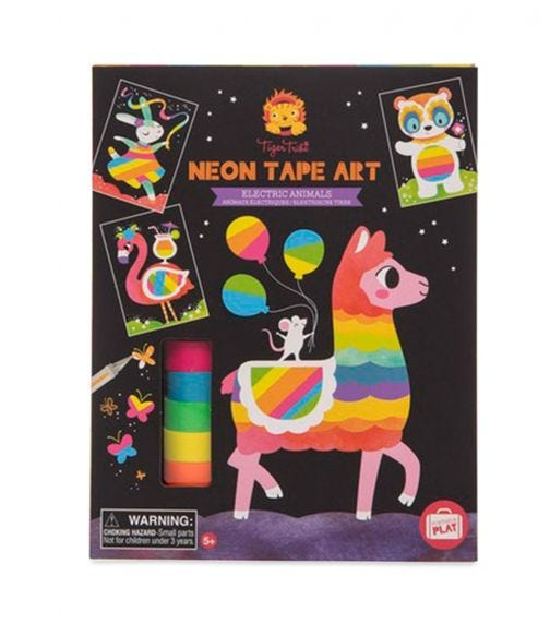 TIGER TRIBE Neon Tape Art Electric Animals