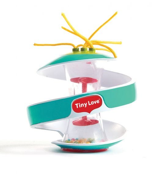 TINY LOVE Inspiral Rainstick Ball Turquoise