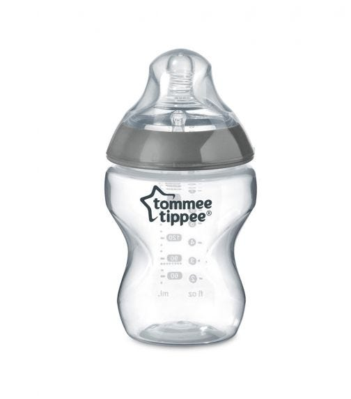TOMMEE TIPPEE Closer To Nature Feeding Bottle 260 ML X 1 Clear