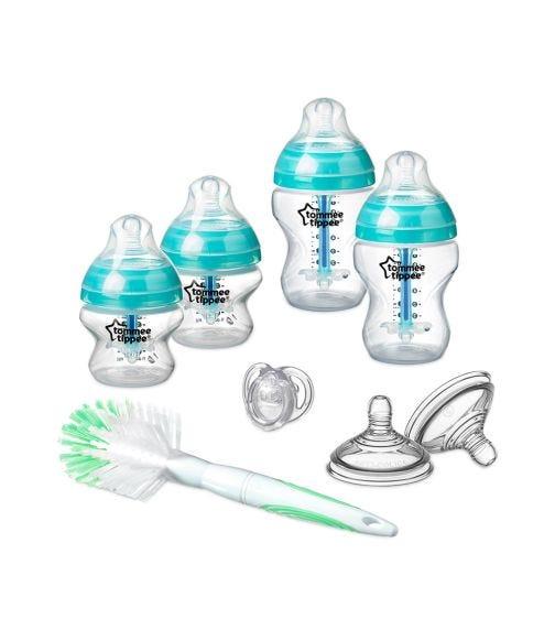 TOMMEE TIPPEE Advanced Anti-colic Feeding Bottle Kit Starter Set Blue