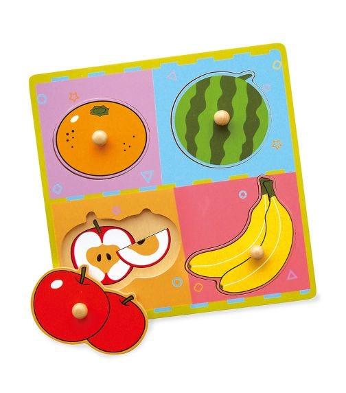 VIGA Wooden Flat Puzzle Fruits