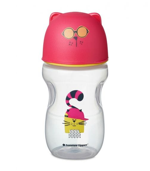 TOMMEE TIPPEE Soft Sippee Free Flow Transition Cup Pink 300 ML