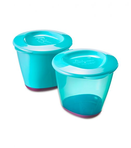 TOMMEE TIPPEE Explora Pop Ups Weaning Pots X 2 Blue