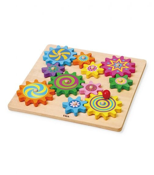 VIGA Puzzle & Spinning Gears