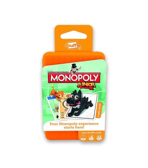 WINNING MOVES Shuffle Monopoly Junior Card