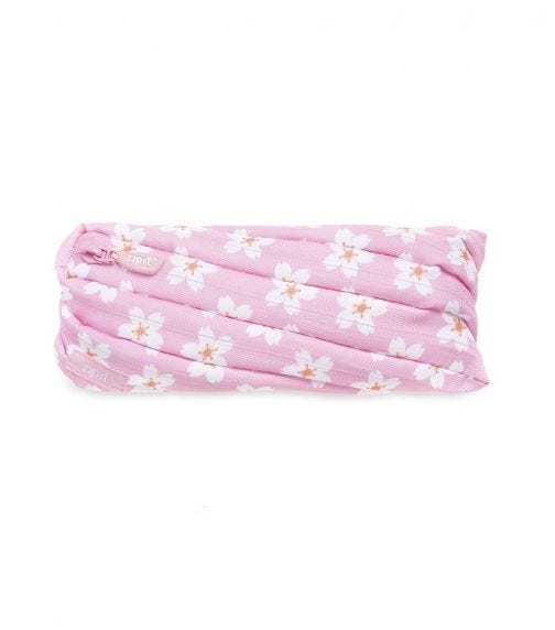 ZIPIT Pencil Casepouch Fresh Twister Pouch Pink Flowers