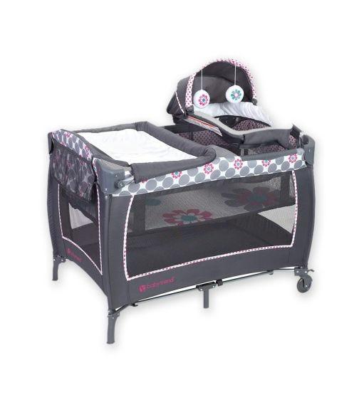 BABYTREND Lil Snooze Deluxe II Nursery Center Daisy Dots