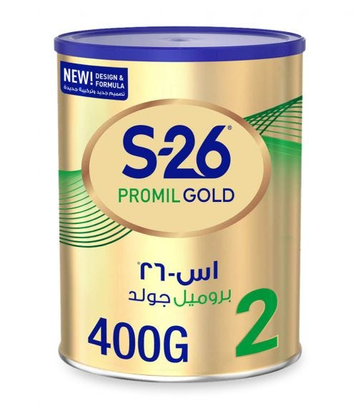 WYETH Nutrition S26 Promil Gold Stage 2 (6-12 Months) Premium Follow-On Baby Formula - 400 G