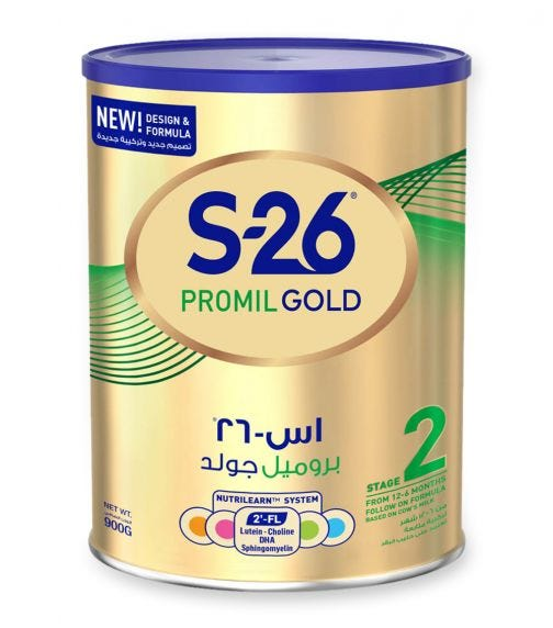 WYETH Nutrition S26 Promil Gold Stage 2 (6-12 Months) Premium Follow-On Baby Formula - 900 G