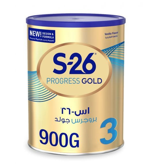 WYETH Nutrition S26 Progress Gold Stage 3 (1-3 Years) Premium Milk Powder for Toddlers - 900 G