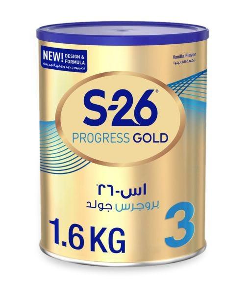 WYETH S26 Progress Gold Stage 3 (1-3 Years) Premium Milk Powder for Toddlers - 1.6 KG