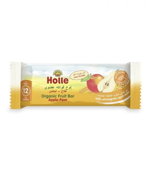 HOLLE Organic Fruit Bar Apple And Pear, 25G