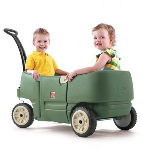 STEP 2 Wagon For Two Plus Willow - Green