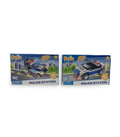 HAPPY LINE Blocks Pieces /44 & 56 Pieces 2 Assorted - Police Car