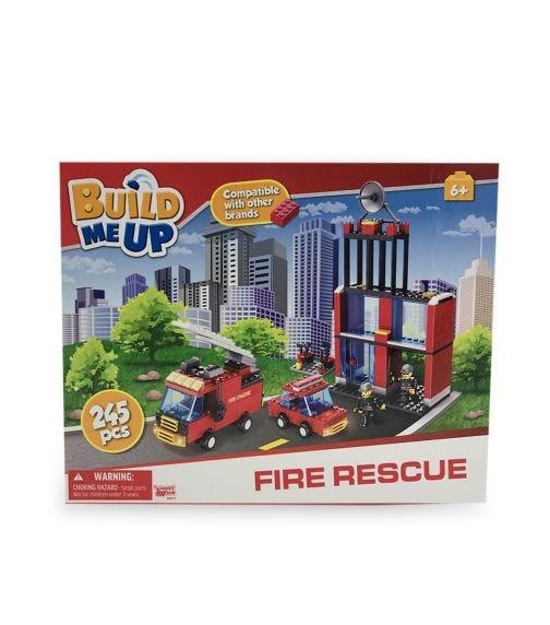 HAPPY LINE Blocks 245 Pieces - Fire Station
