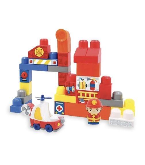 HAPPY LINE Block Maxi, Fire Station Set