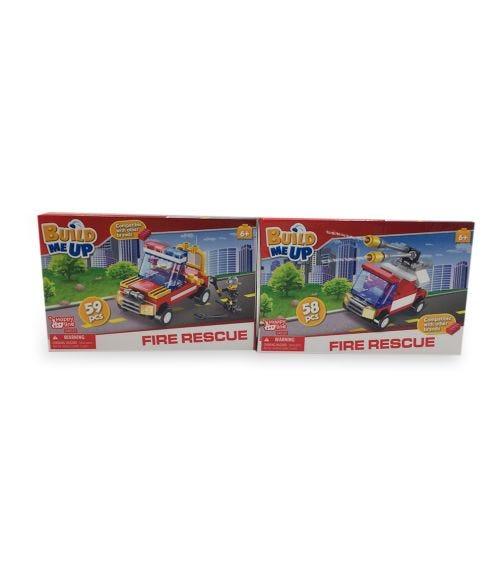 HAPPY LINE Blocks 59 Pieces / 58 Pieces - Fire Station