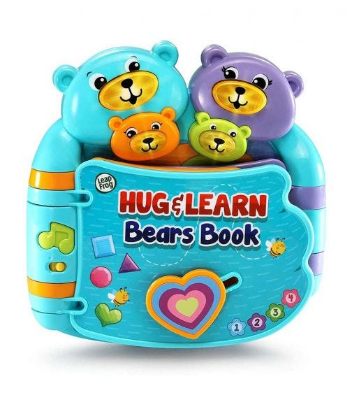 LEAP FROG Hug Learn Bear Book