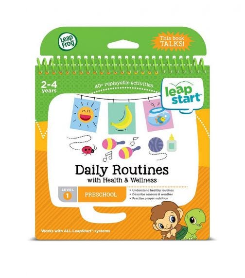 LEAP FROG Leapstart Daily Routines With Health Wellness 30 Page Activity Book