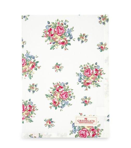 GREENGATE Tea Towel Franka - White