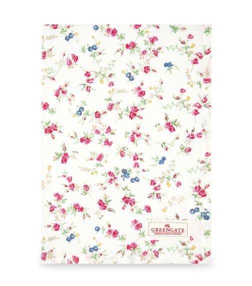 GREENGATE Tea Towel Ottilia - White