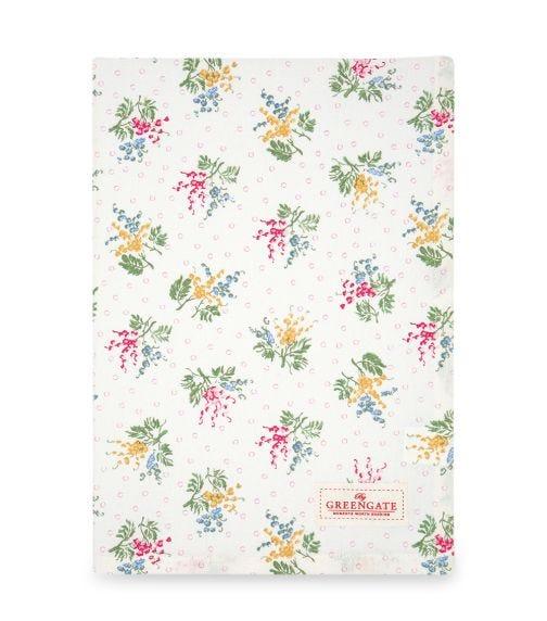 GREENGATE Tea Towel Mira - White
