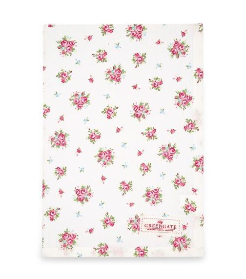 GREENGATE Tea Towel Abigail - White